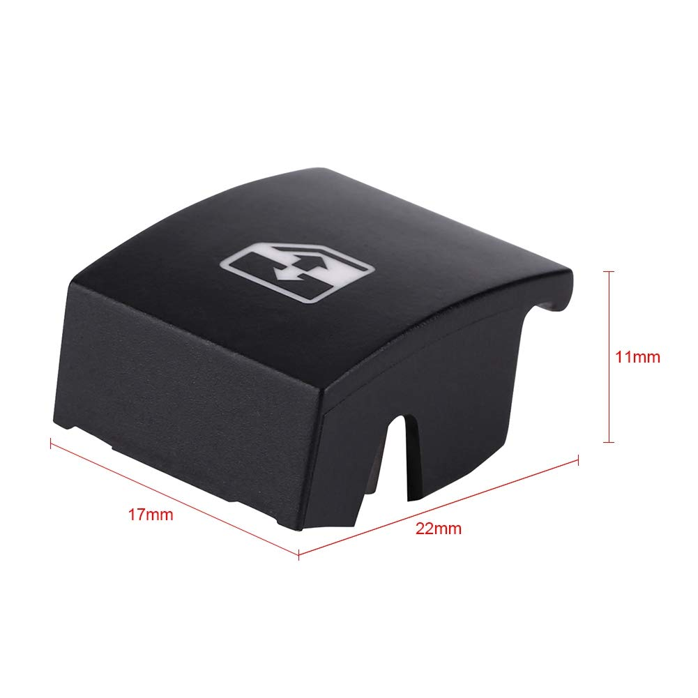 Window Master Control Switch Cover Black Premium Plastic Electric Button Cover Cap Replacement