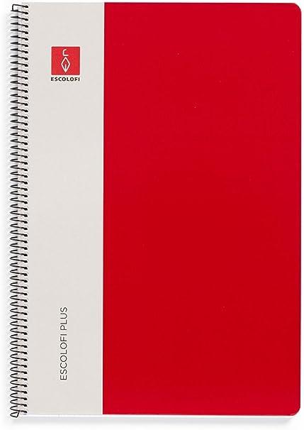 Escolofi Pack de 3 libretas de espiral de 80 hojas de 90 gr/m2 DIN A4 Montessori 3,5 margen color rojo: Amazon.es: Oficina y papelería
