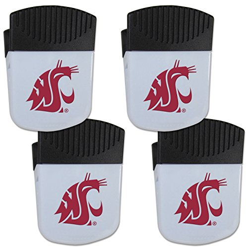 (Siskiyou NCAA Washington State Cougars Chip Clip Magnet with Bottle Opener, 4 Pack)