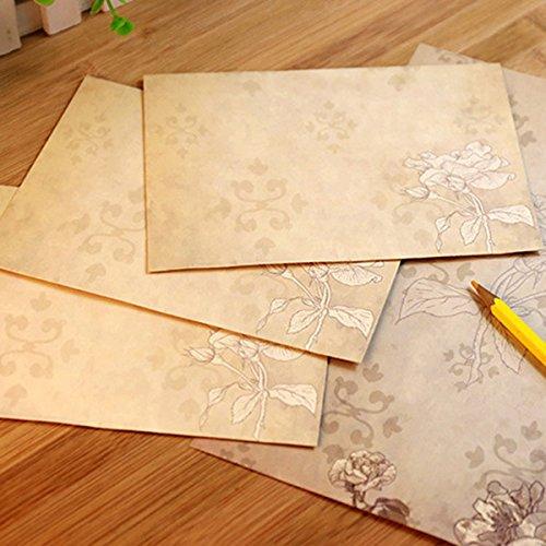 TOOGOO 40 foglidi cancelleria vintage con buste per scrivere lettere