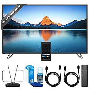 Vizio 55-Inch 4K Ultra HD HDR TV Home Theater Display (M55-D0) w/ TV Cut the Cord Bundle Includes, Durable HDTV & FM Antenna, Universal Screen Cleaner & 2x 6ft High Speed HDMI Cable