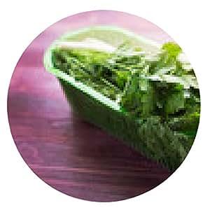 alfombrilla de ratón Las hierbas frescas en envase de plástico - ronda - 20cm