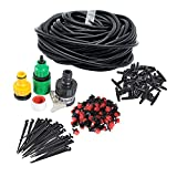 50FT Home Garden Mirco Irrigation System Sprinkler Plant Watering Irrigation Kit for Outdoor Garden Green House Flower Lawn Using