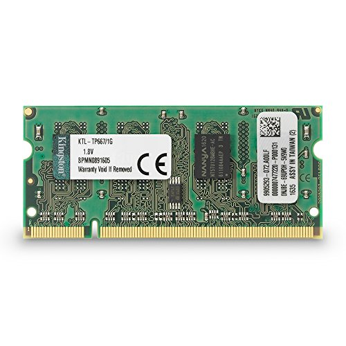 1g 1gb Module Notebook Memory - Kingston 1 GB DDR2 SDRAM Memory Module 1 GB 333MHz DDR2667/PC25300 DDR2 SDRAM 200pin SoDIMM KTL-TP667/1G