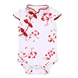 Fairy Baby Baby Girl Cheongsam Dress Short Sleeve Formal Qipao Bodysuit