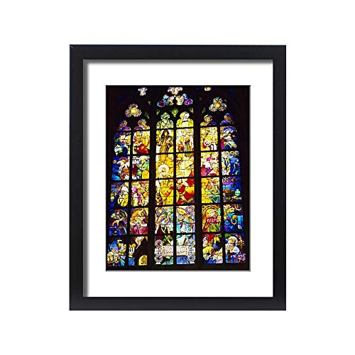 - robertharding Framed 20x16 Print of Stained Glass Windows, St. Vitus Cathedral, Prague, Czech Republic (1141171)