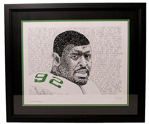 Reggie White Philadelphia Eagles 16x20 Word Art Framed Photo 130244