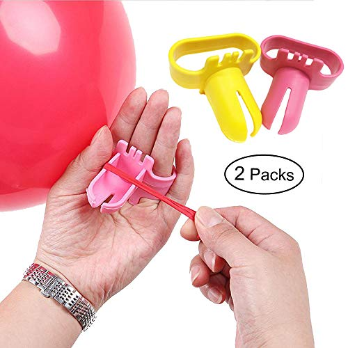 Balloon Tying Knot Tool Device 2 PCS - Pinlook Save Time Balloons Accessory Party Supplies for Helium Electric Ballsoon Blower, Balloon Column Arch