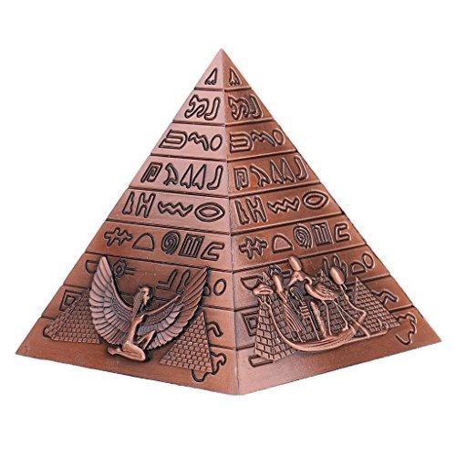 - Baoblaze Antique Bronze Ancient Egypt Pyramid Saving Pot Decoration Money Boxes Creative Piggy Bank Copper