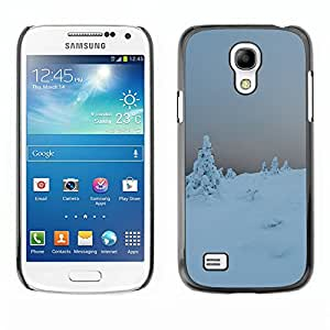 Hot Style Cell Phone PC Hard Case Cover // M00309927 Winter Mountain Snow Cold White // Samsung Galaxy S4 Mini i9190