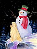 Caroline's Treasures SS8951CHF Snowman with Golden Retriever Flag Canvas, Large, Multicolor For Sale