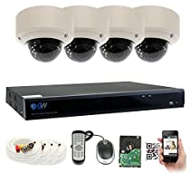 GW Security 8 Channel 4 Megapixel 5 in 1 DVR + 4 x 4MP 1440P Vari-Focal Zoom Outdoor / Indoor CCTV Dome Security Camera System with Pre-Installed 2TB Hard Drive