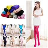 Potato001 Candy Colors Opaque Footed Socks Tights