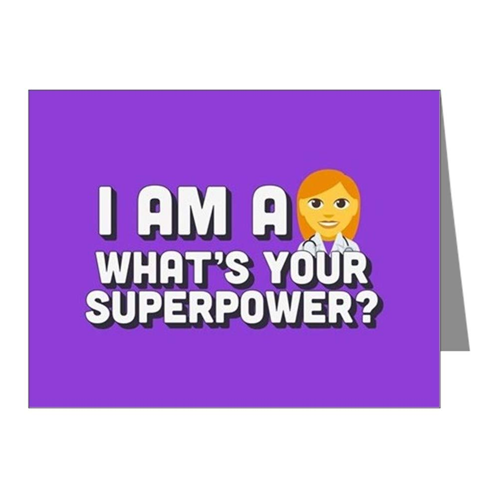 CafePress I Am A Doctor What's Your Su Blank Note Cards (Pack of 20) Matte