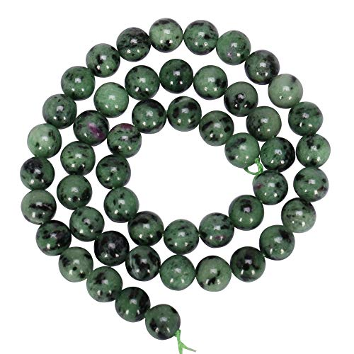 (Top Quality Natural Ruby Zoisite Gemstone 6mm Round Loose Stone Beads 15.5