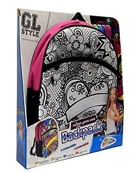 GL Estilo Niña Color De Su Propio Mochila Infantil Kit Manualidades: Amazon.es: Juguetes y juegos