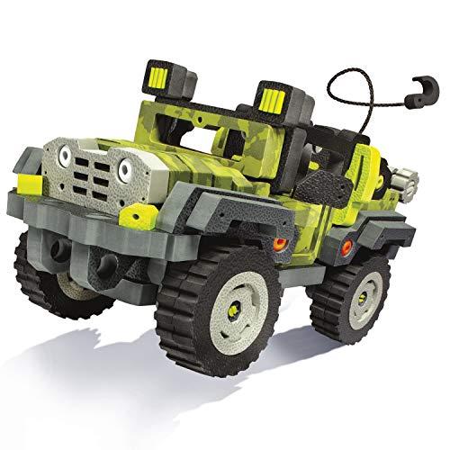 Amazon.com: Bloco Toys 3 in 1 Wild Wheeler | STEM Toy | Jeep, Dune Buggy, ATV 4 Wheeler | DIY Building Construction Set (242 Pieces): Toys & Games