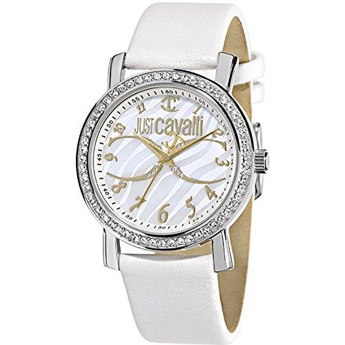 5716e53bb95b Just Cavalli Reloj Analógico para Mujer de Cuarzo con Correa en Piel  142-6012-44  Roberto Cavalli  Amazon.es  Relojes