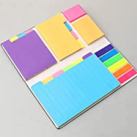 402 Sheets Divider Sticky Notes Set, Colored Lined Self-Stick Notes Pads Bundle, 25 Per PET Color, 60 Ruled (3.7x6), 48…