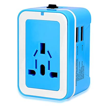 Conversion Plug and Socket Converter Abroad Global Blue Dual
