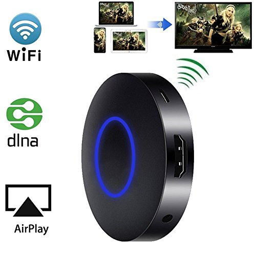 Wireless HDMI Dongle, GOXMGO Mini Wireless Display WLAN Receiver Support 1080P Full HD & AV Dual Output Display Airplay Receiver for iOS iPhone iPad/Android Smartphones/ Windows/ Macbook  (Pc Tv Connection To Cable)