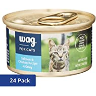 Amazon Brand - Wag Wet Cat Food, Salmon & Chicken Recipe in Gravy, 3 oz Can (Pack of 24)