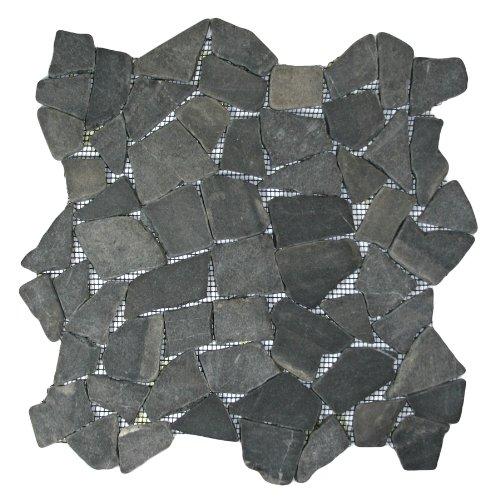 Grey Mosaic Tile 1 sq.ft. (Mesh Mounted) - Grey Mosaic