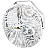 J&D Manufacturing POW18B Indoor/Outdoor UL507 Certified Mount Fan, 18 Diameter, 1/10 hp, 120V, 9 Cord, Black