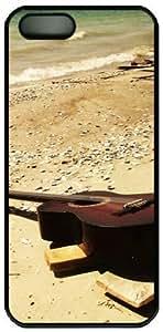 A Guitar On The Beach Theme For SamSung Galaxy S4 Mini Phone Case Cover PC Material Black