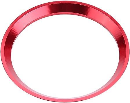 Keenso Auto Lenkrad Dekorationsring Aluminiumlegierung Auto Lenkrad Ring Verkleidung Für Cla Glk A Klasse W204 W246 W176 W117 C117 Rot Auto