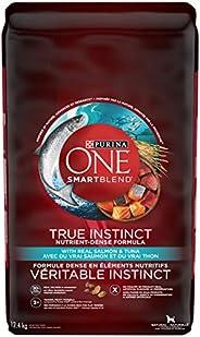 Purina ONE Smartblend True Instinct Natural Dry Dog Food, Salmon & Tuna 12.