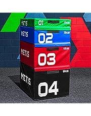 METIS Plyometrisk box | Stapelbart plyobox set – Hem & Gym träningsutrustning | Premium hoppboxar av skummaterial