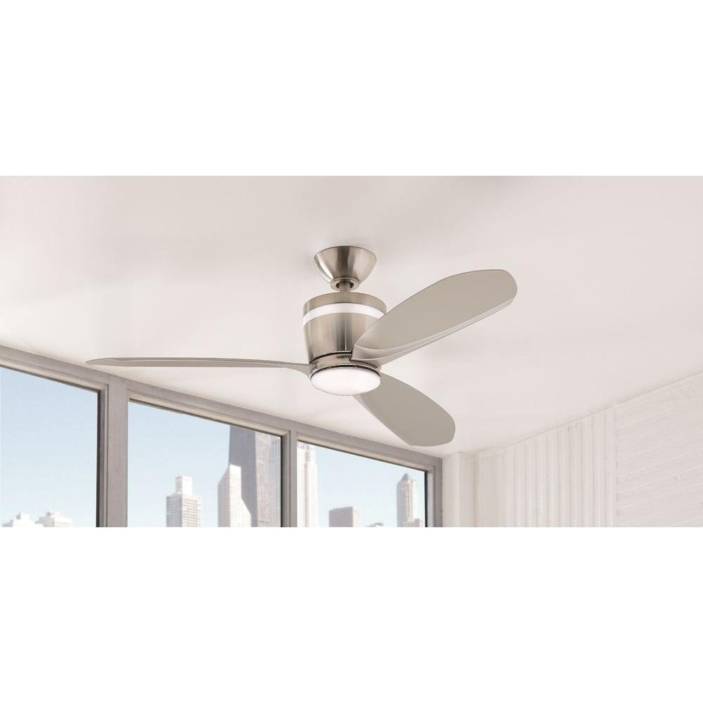 Home Decorators Collection Federigo 48 in. LED Indoor Brushed Nickel Ceiling Fan