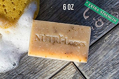 NUTRI-Logics' BEST - EXTRA STRENGTH - PREMIUM / LUXURY 6 oz - USDA CERTIFIED ORGANIC COLLOIDAL SILVER SOAP - PEPPERMINT TEA TREE VANILLA- COOL & REFRESHING ANTIBACTERIAL / ANTIFUNGAL