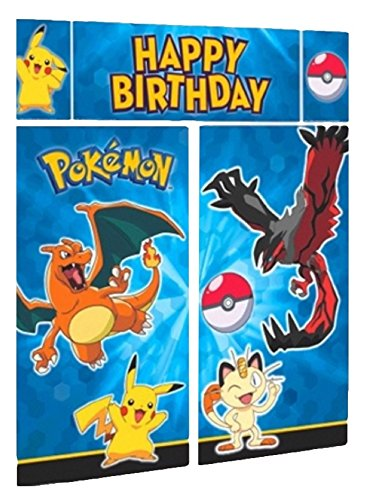 Price comparison product image 5 Count Pokemon Scene Setters Decorating Kit, Blue