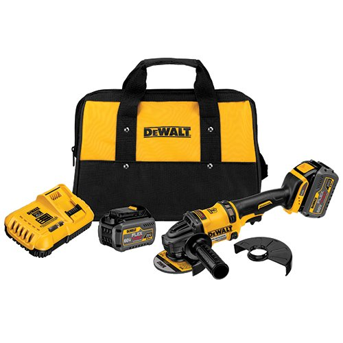 (DEWALT DCG414T2 60V MAX 2 Battery FLEXVOLT Grinder with Kickback Brake Kit)