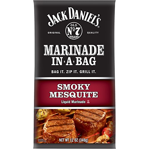 Mesquite Marinade - Jack Daniel's Smoky Mesquite Marinade in a Bag (12 oz Bottles, Pack of 10)