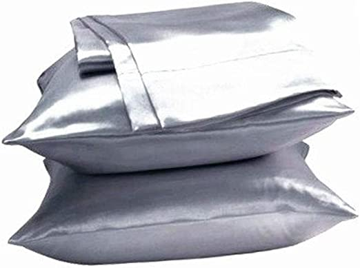 Unihome 2Pc New Queen//Standard Silk~Y Satin Pillow Case Multiple Colors
