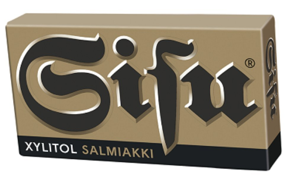 24 Boxes x 36g of Leaf Sisu Xylitol Salmiakki - Original - Finnish - Salmiak - Licorice - Pastilles - Lozenges - Drops - Dragees - Candies - Sweets
