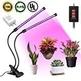 LED Grow Light Bulb, Dual Head Timing Plant Lamp,Grow Lights for Indoor Plants Vegetables Garden Greenhouse Seedlings, Plant Growing Lights Bulbs for Hydroponics, Organic Soil [2019 Upgraded]