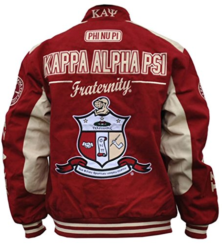 1faca1617fc Amazon.com  Kappa Alpha Psi Fraternity Mens Racing Twill Jacket Crimson  Red  Clothing