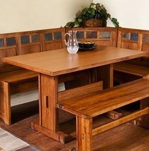Amazon Com Sedona Breakfast Nook Set W Side Bench 4pc
