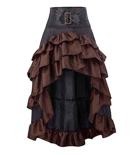 huateng Mujer Falda Gótica, Vintage Lolita Punk Gothic Victoriano ...