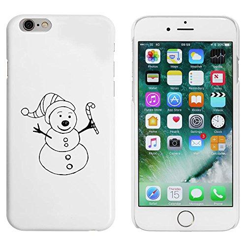 Blanc 'Bonhomme de Neige Heureux' étui / housse pour iPhone 6 & 6s (MC00089251)