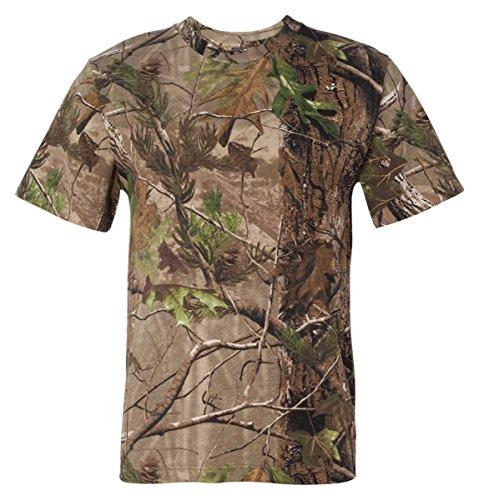Code V Adult REALTREE Camouflage Crewneck Jersey T-Shirt, APG Realtree HD, Large