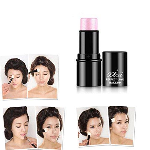 DZT1968 1PC Highlight & Contour sweaterproof Almighty Stick Beauty Makeup Face Powder Cream Shimmer Concealer (Face Lip Shimmer Stick)