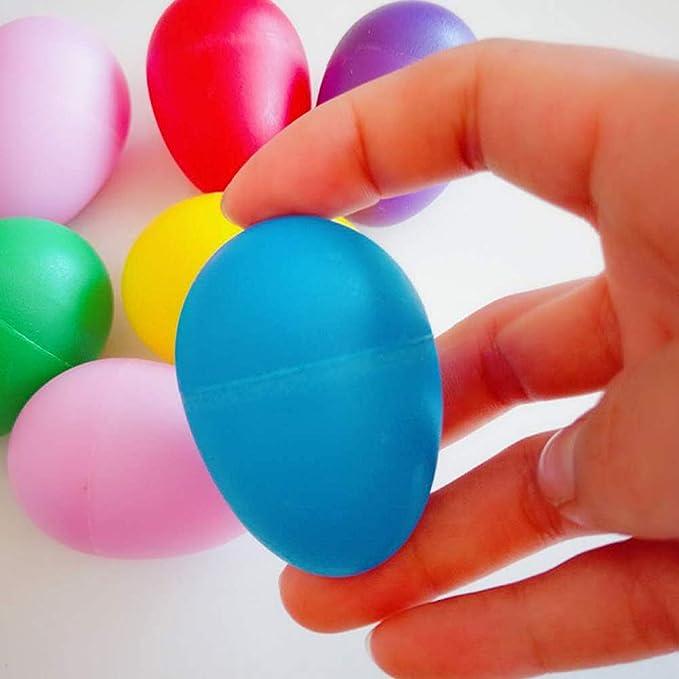 Amazon.com: 30 piezas de plástico para huevos de maracas ...