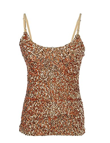PrettyGuide Women Flashy Sequins Spaghetti