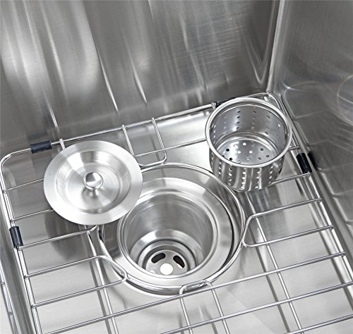 33x21 Inch Farmhouse Apron 60/40 Deep Double Bowl 16 Gauge Stainless Steel Luxury Kitchen Sink SuperSuper by SuperSuper (Image #4)