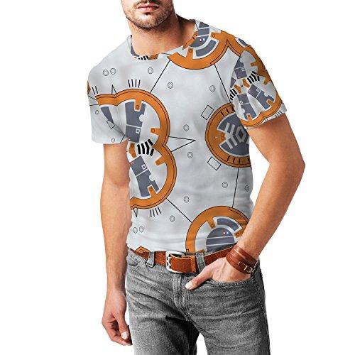 Little Round Droid Mens Cotton Blend T-Shirt Herren
